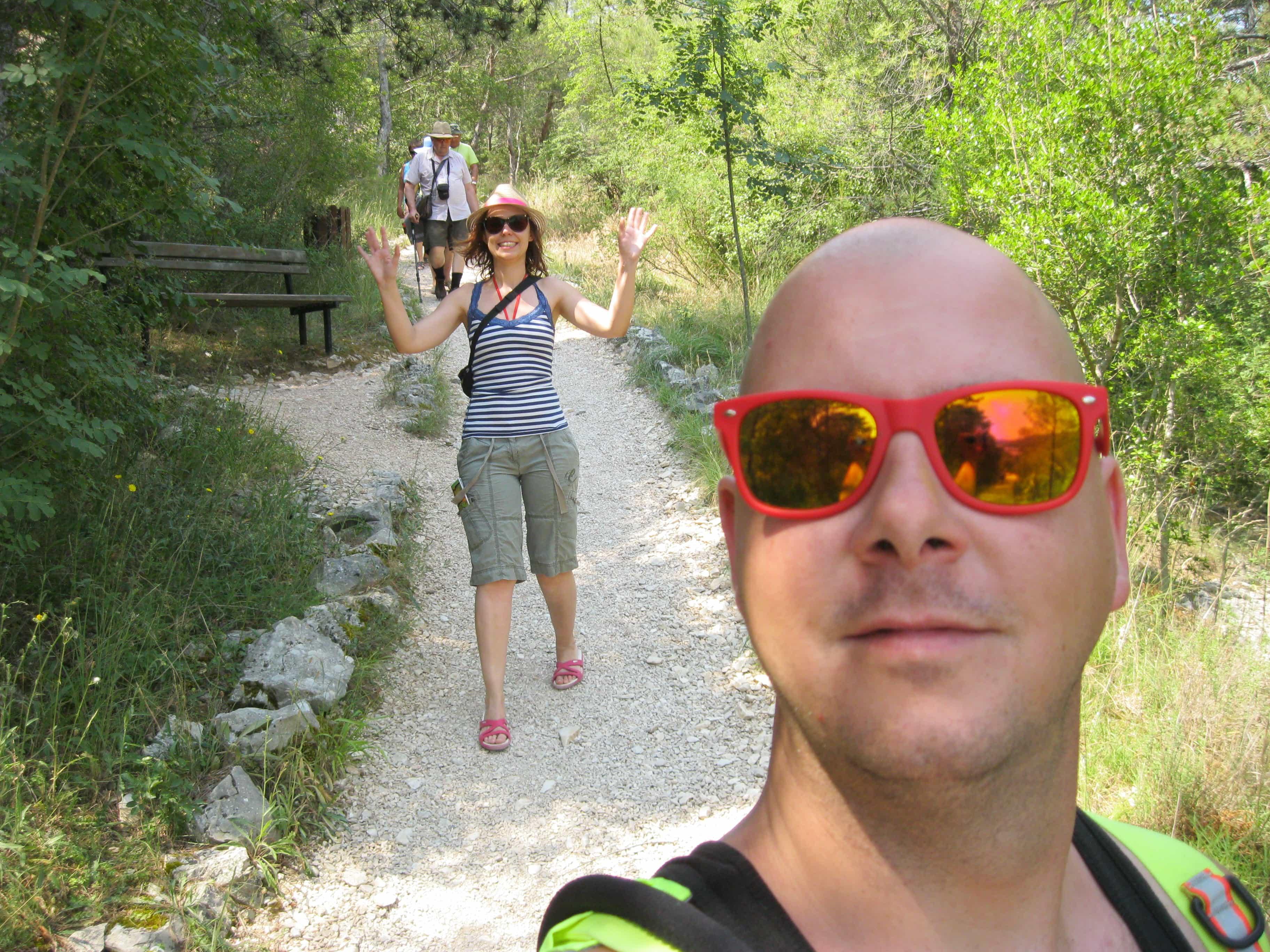 Foto genomen aan de Plitvice meren te Kroatië