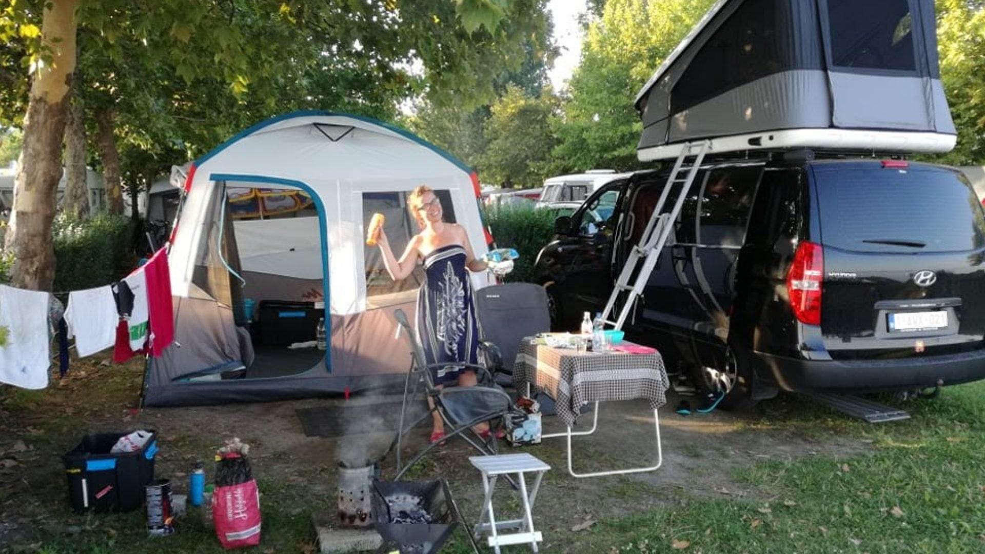 Treesje & de camping