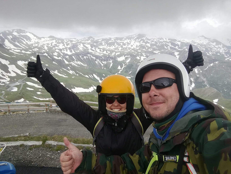 Bert & Treesje on top of Grossglockner, Austria