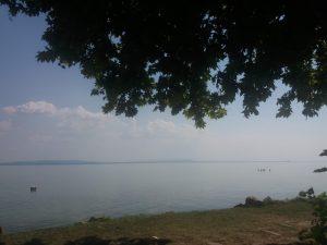 Zicht over het Balatonmeer